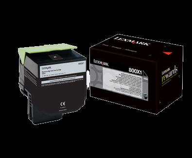 Lexmark 800X1 Toner schwarz - 80C0X10