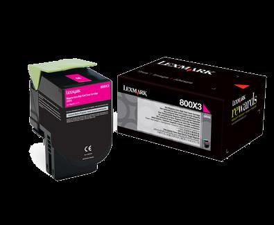 Lexmark 800X3 Toner magenta - 80C0X30