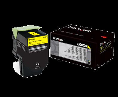 Lexmark 800X4 Toner gelb - 80C0X40