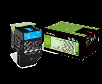 Lexmark 802C Rückgabe-Toner cyan - 80C20C0
