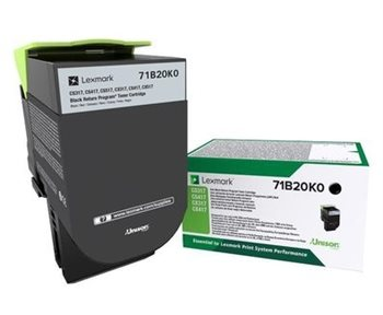 Lexmark Original Rückgabe-Toner schwarz -  71B20K0