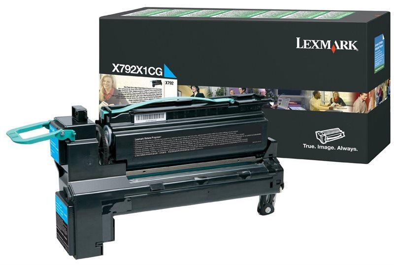 Lexmark Rückgabe-Toner cyan für X792