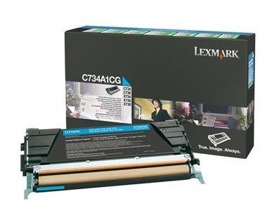 Lexmark Rückgabetonerkassette cyan für C734N