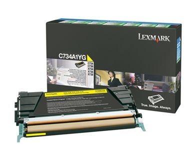 Lexmark Rückgabetonerkassette gelb für C734N