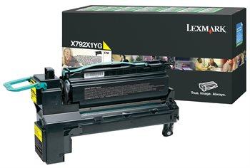 Lexmark Rückgabe-Toner gelb für X792