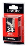 Lexmark Tintenpatrone schwarz, Nr. 34, original, 1