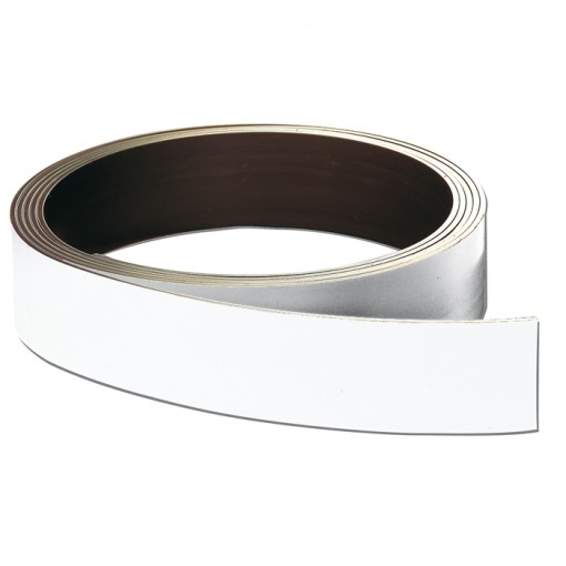 Magnetband, 50 mm x 1000 cm, 0,8 mm, weiß