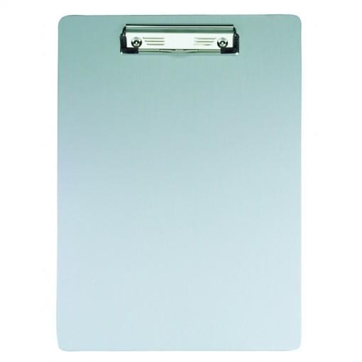 Maul A4 Schreibplatte Aluminium mit Bügelklemme Aluminium