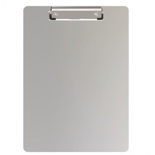 Maul A4 Schreibplatte Aluminium mit Bügelklemme und Magnetband Aluminium