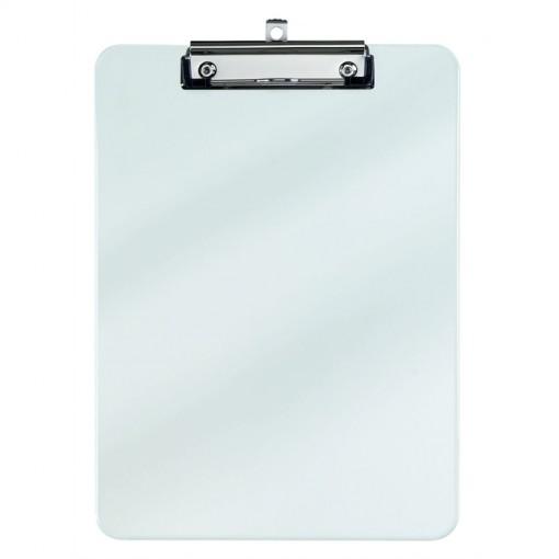 Maul A4 Schreibplatte Kunststoff mit Bügelklemme transparant