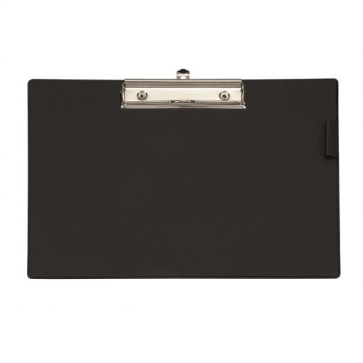 Maul A4 Schreibplatte mit Folien- überzug, Klemmer lange Seite schwarz