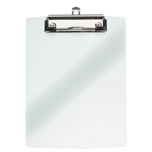 Maul A5 Schreibplatte Acryl mit Bügelklemme transparant