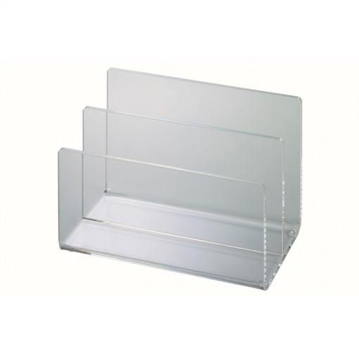 Maul Acryl-Kartenständer transparant