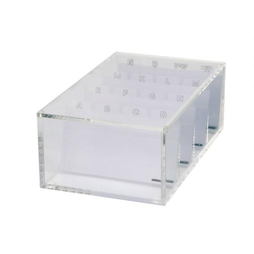 Maul Acryl-Visitenkartenbox transparant