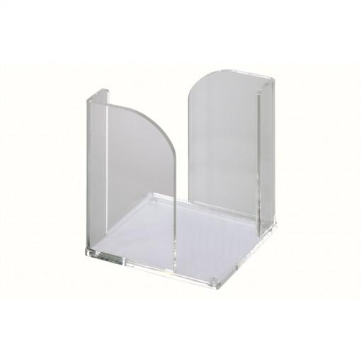 Maul Acryl-Zettelbox 9 x 9 cm, ohne Zettel transparant