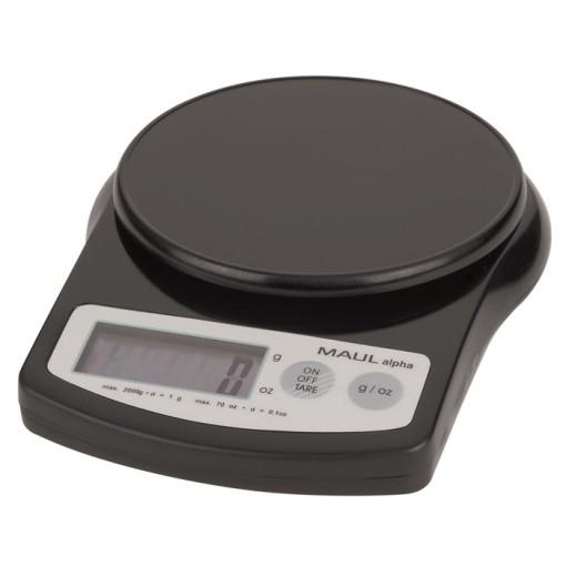 Maul Briefwaage MAULalpha mit Batterie, 2000 g schwarz