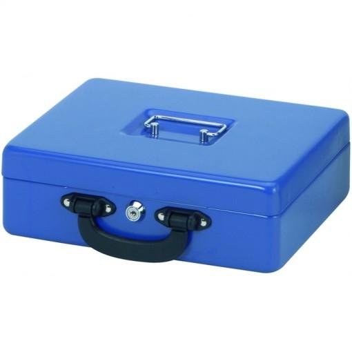 Maul Geldkassette mit Euro-Zähl- -Einsatz, 30 x 24,5 x 9,3 cm blau