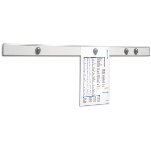 Maul Infoschiene Design MAULpro, Länge 100 cm silber