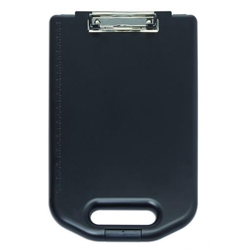 Maul Schreibplatte A4 Kunststoff mit Aufbewahrungsfach, breit schwarz