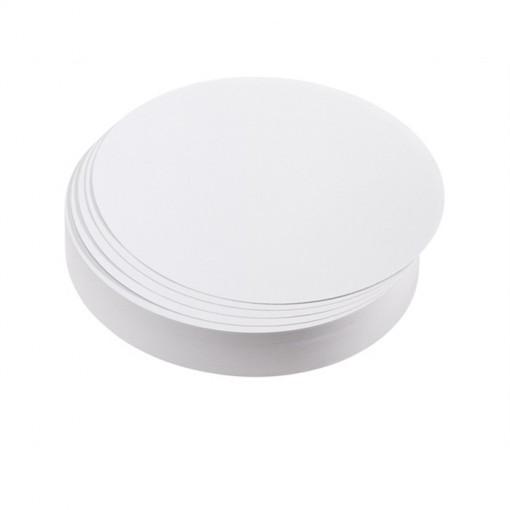 Moderationskarte, Kreis groß, 195 mm, weiß, 500