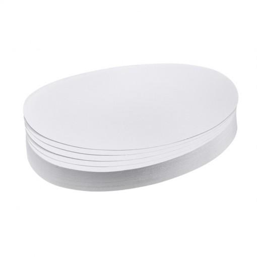 Moderationskarte, Oval, 190 x 110 mm, weiß, 500