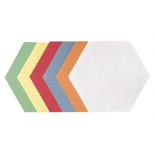 Moderationskarte Wabe, 190 x 165 mm, sortiert, 250