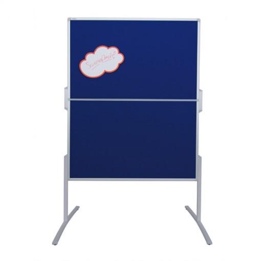 Moderationstafel PRO, 120 x 150 cm, blau/Filz, blau/Filz