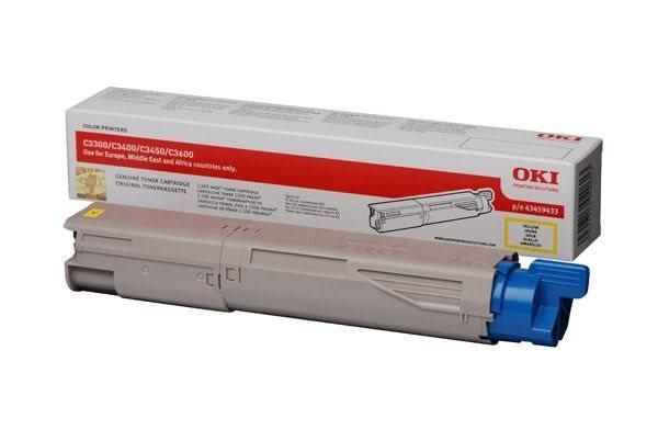 Oki Toner gelb für C3300/C3400, 43459433