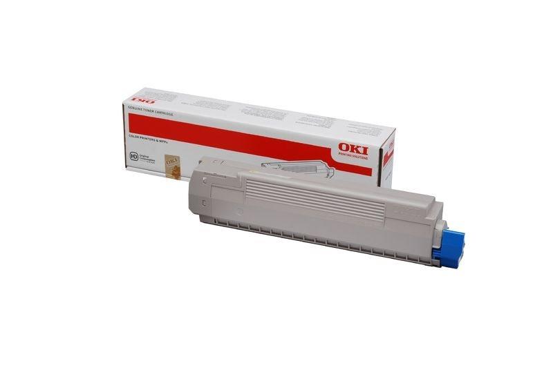 OKI Toner gelb für MC851, MC861 für ca. 7300 Sei