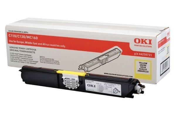 Oki Toner gelb HC für C110/130 - 44250721