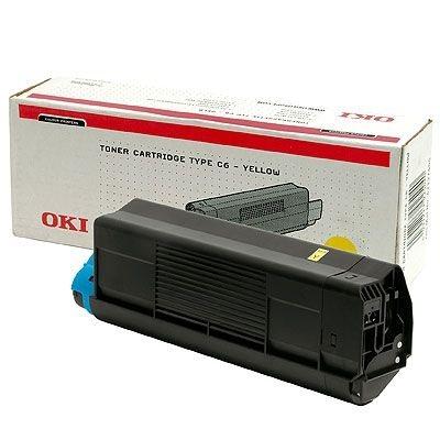 OKI Toner Original für C5100, gelb