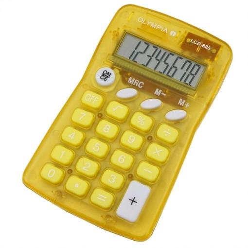 OLYMPIA LCD825Y - Taschenrechner, 8-stellige Anzeige Gelb