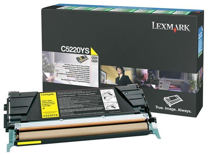 Original Lexmark Rückgabe-Druckkassette C5220YS