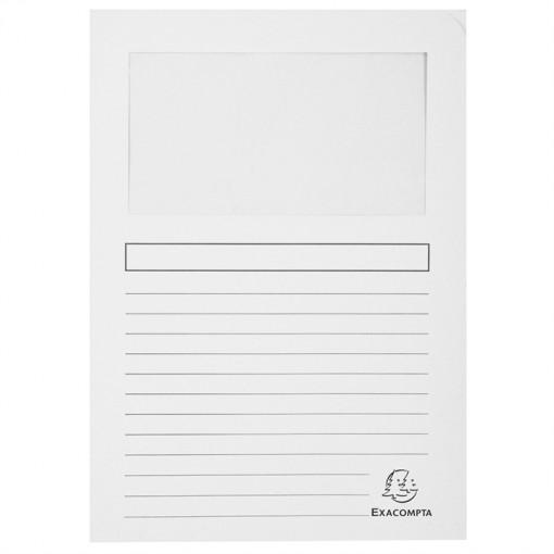 Packung mit 100 Fenstermappen mit Organisationsdruck aus Recycling-Karton 120g Forever, für Format DIN A4 22x31cm