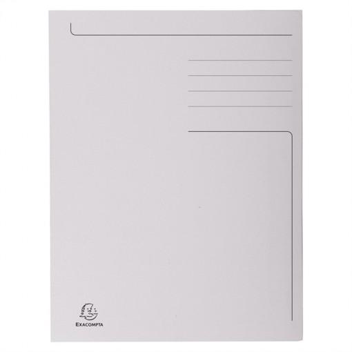Packung mit 50 Aktenmappen mit Beschriftungsfeld und 3 Klappen aus Karton 280g Forever, für Format DIN A4