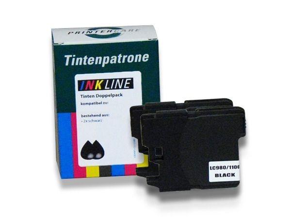 PC Tinte schwarz 2er Pack - PC-LC980-1100BKP2