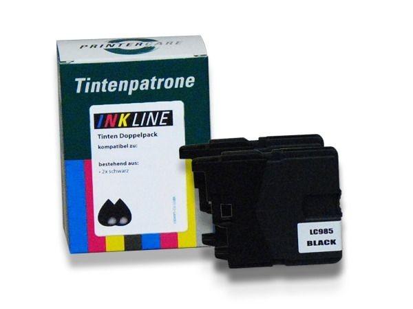 PC Tinte schwarz 2er Pack - PC-LC985BKBP2