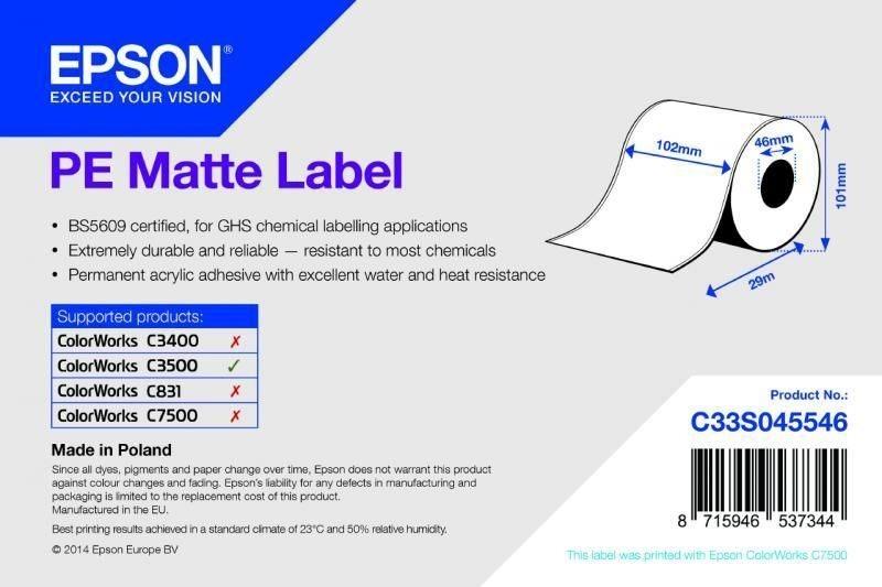 PE Matte Label - Continuous Roll - C33S045546