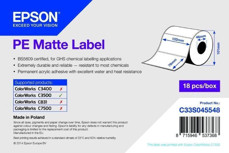 PE Matte Label - Die-cut Roll - C33S045548