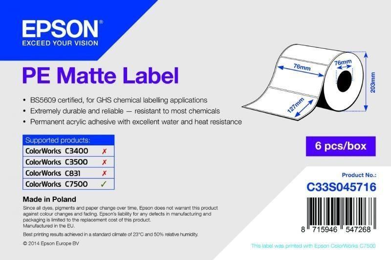 PE Matte Label - Die-cut Roll - C33S045716