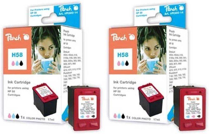 Peach Doppelpack Druckköpfe colorphoto - PI300-453