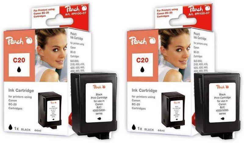 Peach Doppelpack Druckköpfe schwarz - PI100-195