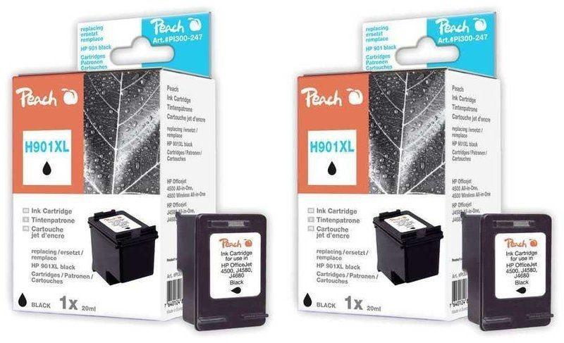 Peach Doppelpack Druckköpfe schwarz - PI300-480