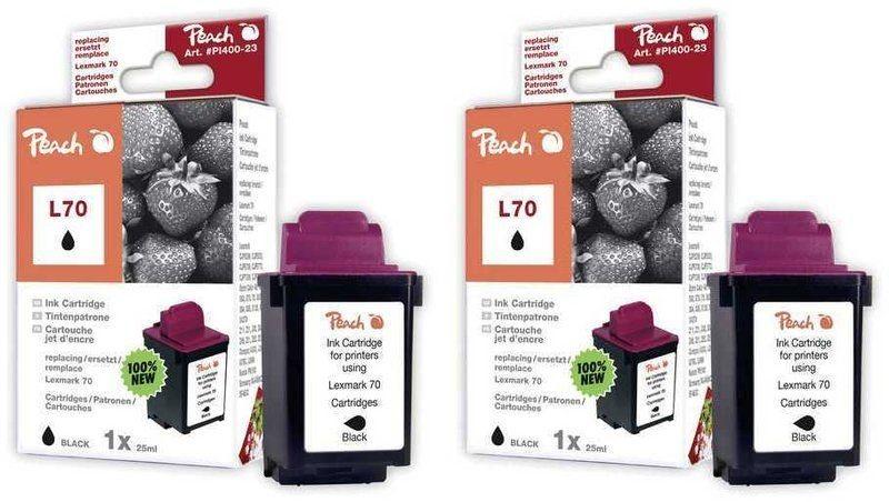Peach Doppelpack Druckköpfe schwarz - PI400-49