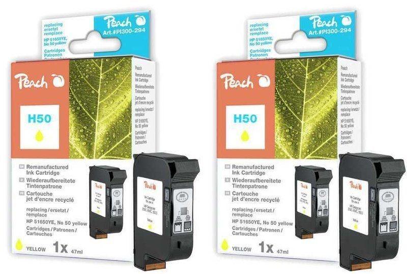 Peach Doppelpack Druckköpfe yellow - PI300-497
