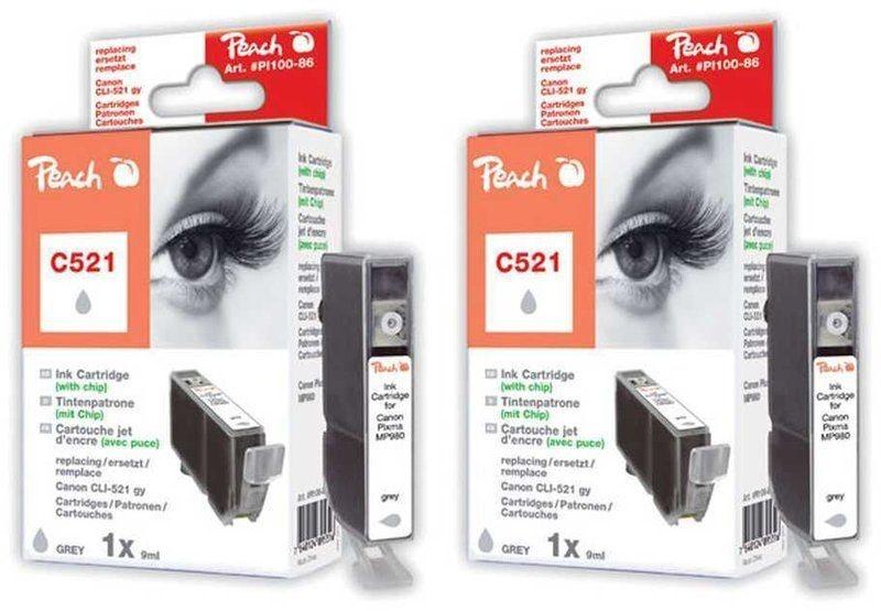 Peach Doppelpack Tinten grau mit Chip - PI100-208