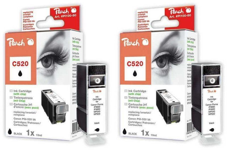 Peach Doppelpack Tinten schwarz - PI100-217