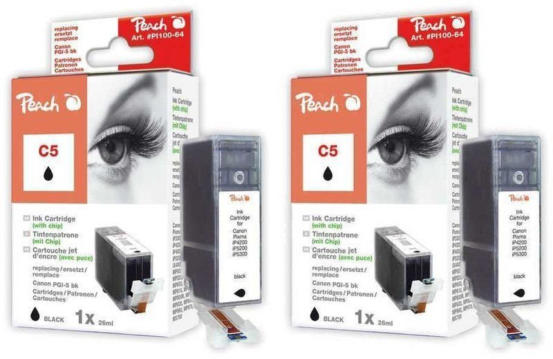 Peach Doppelpack Tinten schwarz - PI100-219
