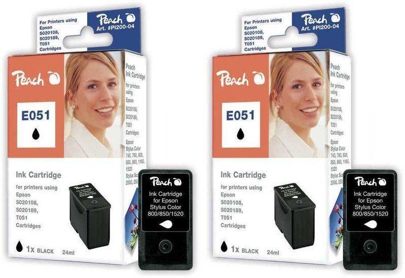 Peach Doppelpack Tinten schwarz - PI200-297