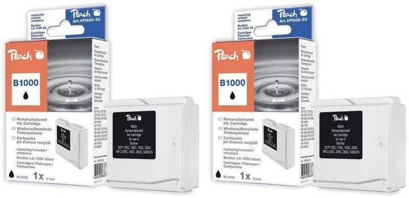 Peach Doppelpack Tinten schwarz - PI500-102